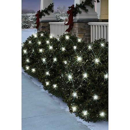 Holiday Time 70-Count LED Net Christmas Lights, Pure White - Walmart.com
