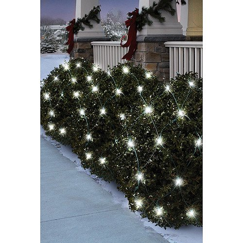 holiday time 70 count led net christmas lights pure white walmartcom