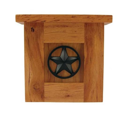 Lone Star Doorbell Chime in Solid Pecan by Blue Forest Inc
