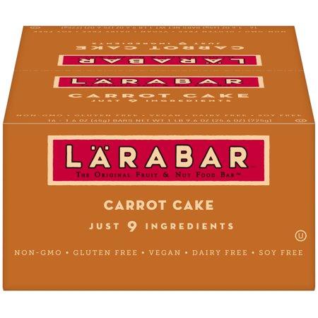 Larabar Gluten Free Bar, Carrot Cake, 1.6 oz Bars (16