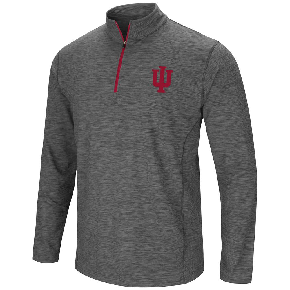 Mens Indiana Hoosiers Action Pass Long Sleeve Quarter Zip Wind Shirt