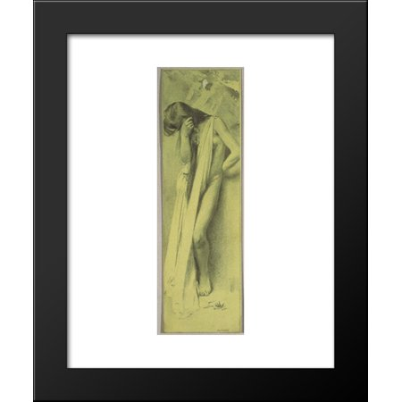 Right Leaf (Reproduction template for the right part of the leaf for Gerlach's love allegories. New Series, Plate 30 20x24 Framed Art Print by Moser,)