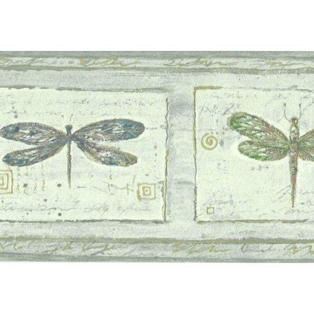 879732 Textured Dragonfly Wallpaper Border FDB06862