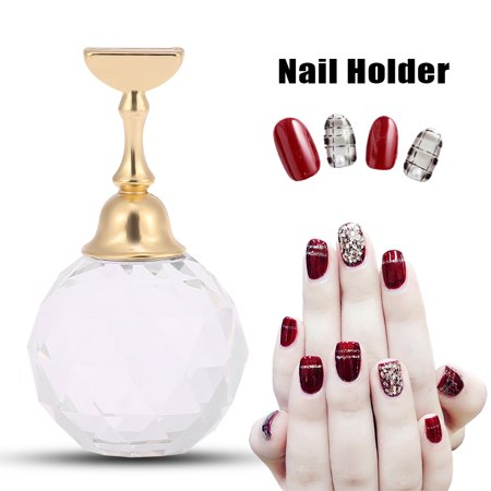 Walfront Magnetic Nail Tip Practice Stand Base Alloy Holder Nail Art