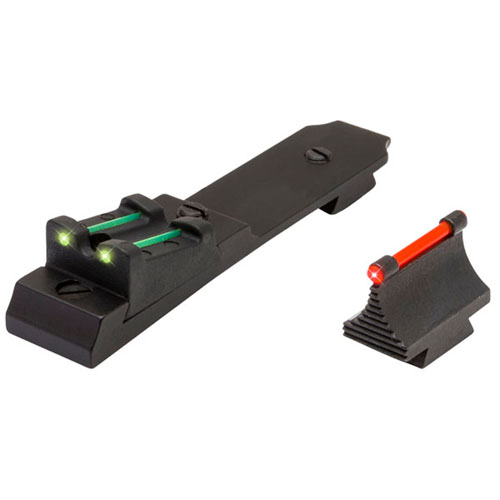 TRUGLO LEVER ACTION RIFLE SET HENRY LEVER TRITIUM/FIBER OPTIC RED FRONT GREEN REAR BLACK