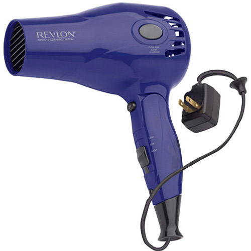 Revlon Ionic Ceramic Style & Go Retractable Cord Compact Hairdryer