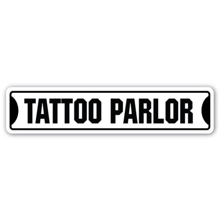 TATTOO PARLOR Street Sign artist parlour tattooist ink inkster | Indoor/Outdoor |  24