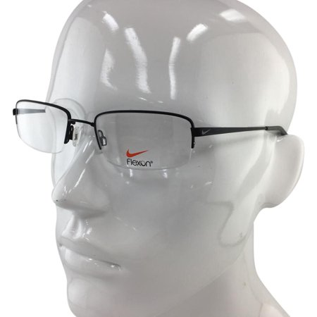 c685e0fafb Nike 4192 007 Black Grey Semi Rimless Eyeglasses 53mm - Walmart.com