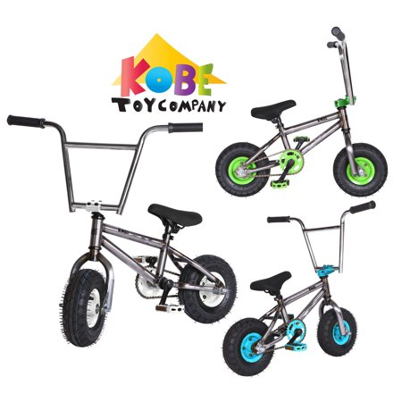 """Kobe """"Rusty Rat Rod"""" Mini BMX - Off-Road to Skate Park, Freestyle, Trick, Stunt Bicycle 10"""" Wheels for Adults and Kids - White - image 12 de 12"""