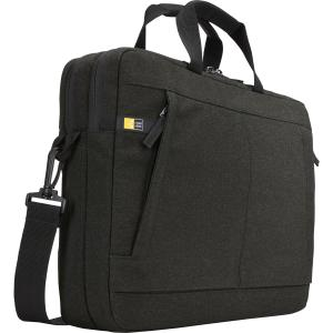 """Case Logic Huxton Carrying Case for 13.3"""" Notebook - Black - Polyester, Heather - Handle, Shoulder Strap, Luggage Strap - 11.8"""" Height x 16.1"""" Width x 2.8"""" Depth"""