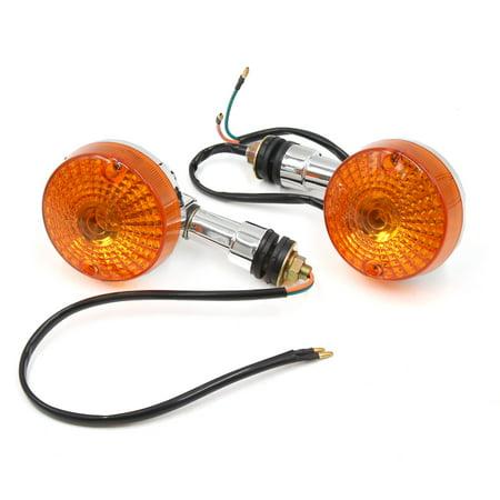 2Pcs Yellow  Turn Signal Light Motorcycle Indicator Light Lamp Bulb for -