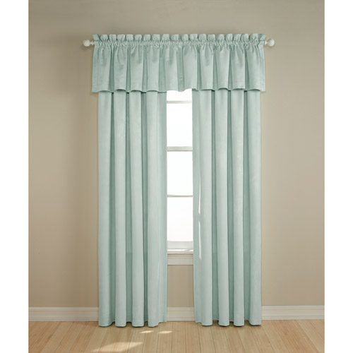 Perfect Darkness - Suede Black-Out Curtain Panel, Baby Blue