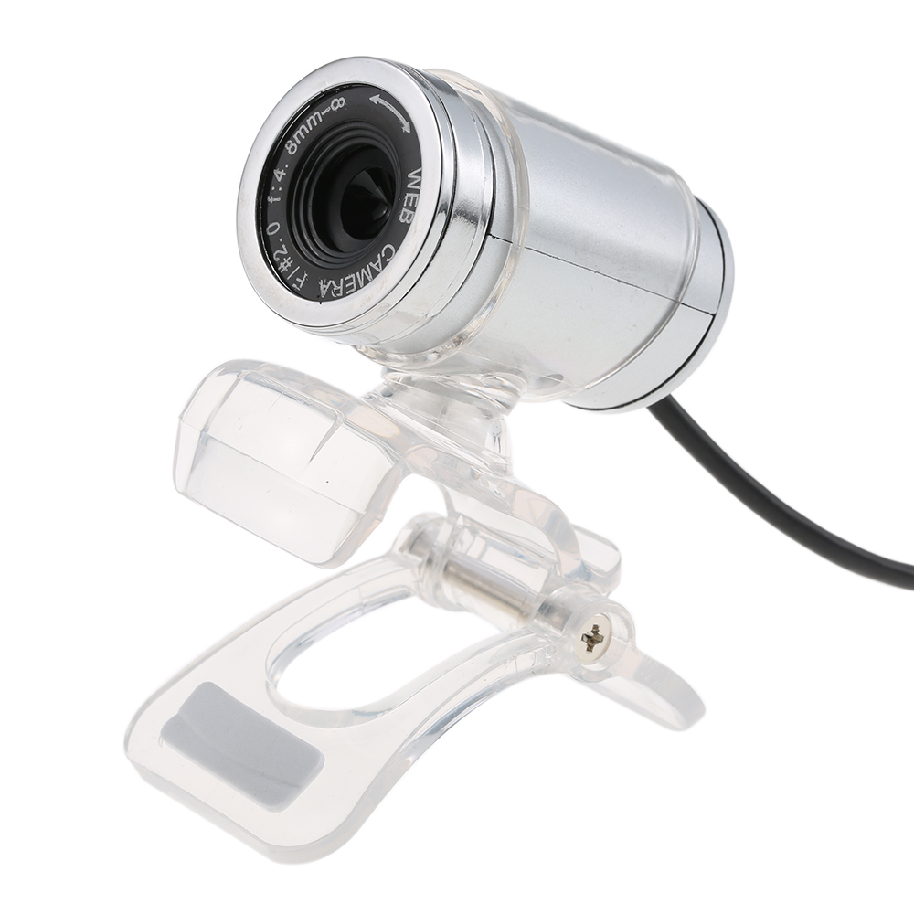 USB 2.0 12 Megapixel HD Camera Web Cam with MIC Clip-on 360 Degree for Desktop Skype Computer PC Laptop Transparent
