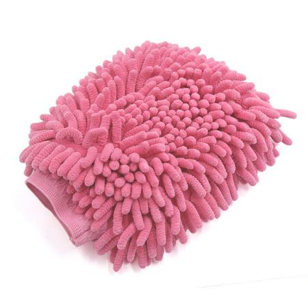 Fuchsia Microfiber Chenille Wash Mitt Car Window Washing Cleaning Glove Duster - image 2 of 2