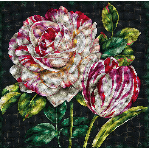 "Tulip Drama-Counted Cross Stitch Kit, 12"" x 12"" 14-Count"