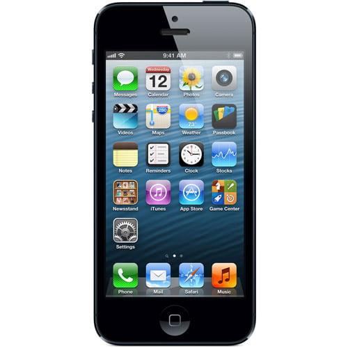 Straight Talk Apple iPhone 5 64GB Black Prepaid Smartphone w/ Bonus $45 Unlimited Plan
