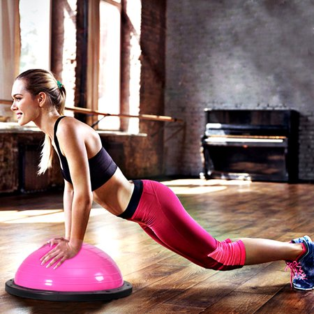 """23"""" Pink Yoga Ball Balance Trainer w/ Pump Home Exercise Training Fitness - image 10 of 10"""