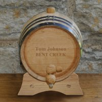 Personalized 2-Liter Whiskey Barrel