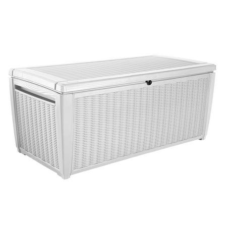 Keter Sumatra Deck Box With Pool Kit Resin Patio Storage Bench