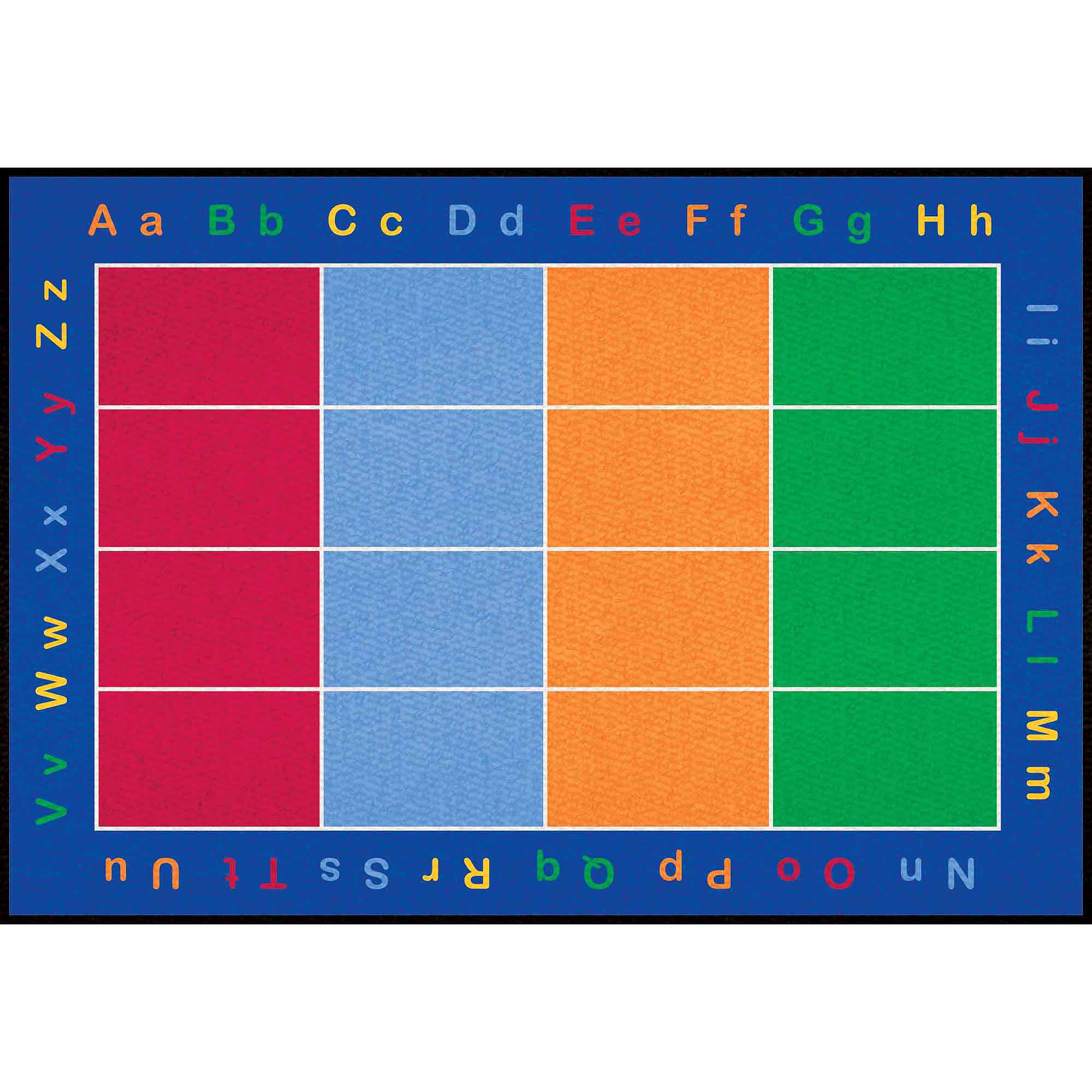 Learning Carpets ABC Squares Rug