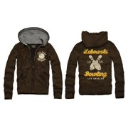 The Big Lebowski Bowling Zip Up Adult Hoodie Sweatshirt Small