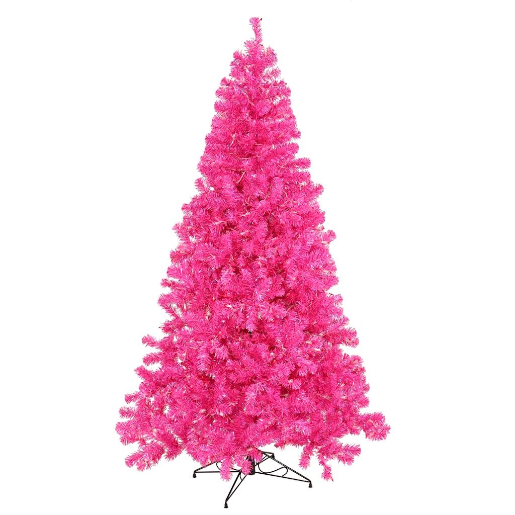 "Vickerman 428382 - 9' x 58"" Pink Tree with 700 Pink LED Lights Christmas Tree (B981691LED)"