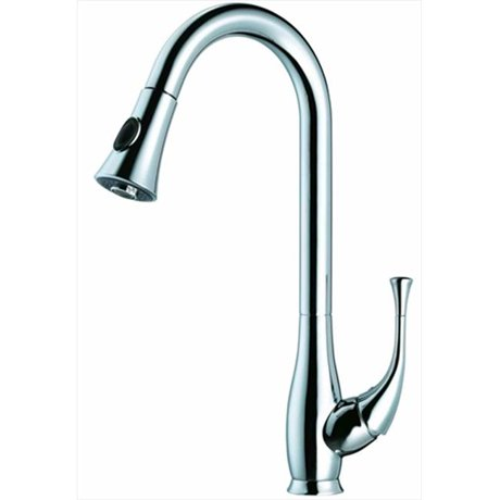 chrome free hole kitchen home product garden handles sprayer and faucet cross