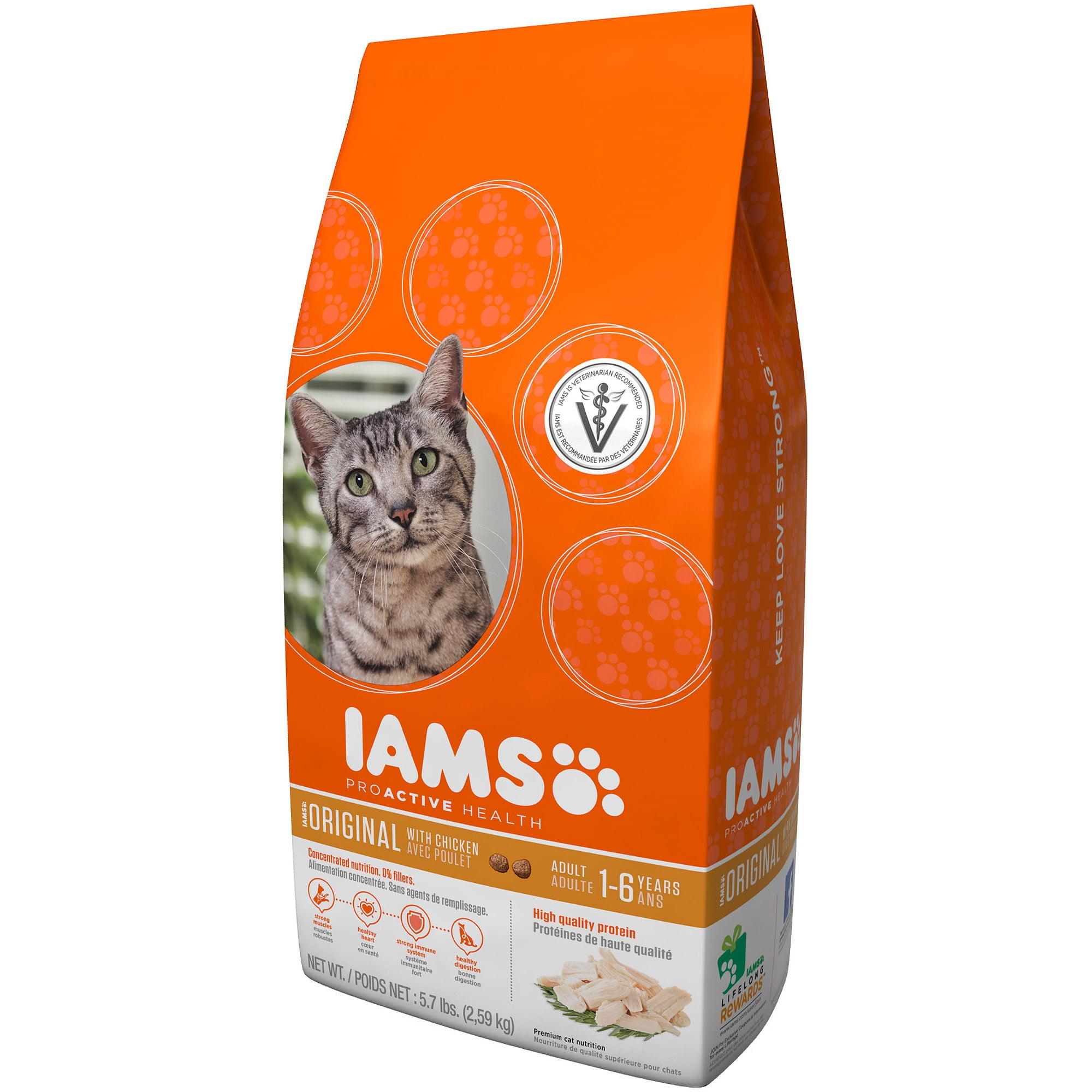 Iams ProActive Health Adult Original Chicken Dry Cat Food 7 Lb