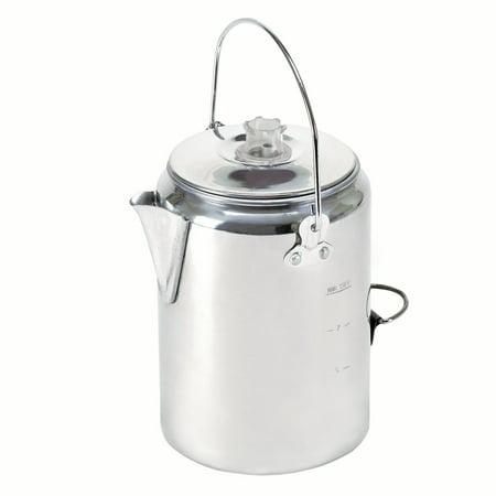 Chrome Percolator (Stansport Aluminum Percolator Coffee Pot- 9 Cup )