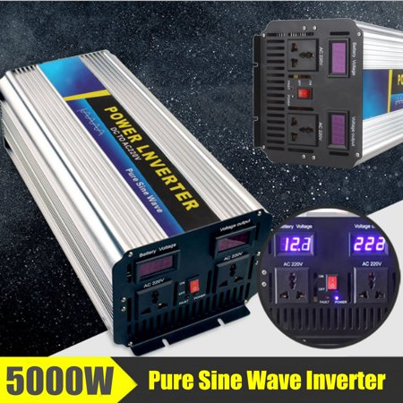 Control Pure Sine Wave Output - 5000W Pure Battery Sine Wave Converter Power Inverter Peak 10000W DC12/24V To AC110/220V