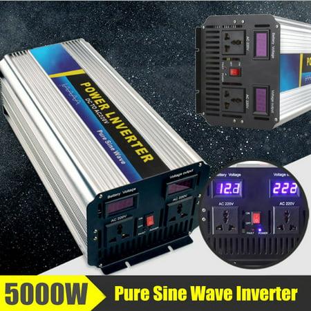 5000W Pure Battery Sine Wave Converter Power Inverter Peak 10000W DC12/24V To AC110/220V