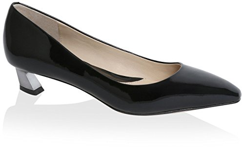 Carolina Espinosa Women's Bonnie Flat, Black Patent, 6 M US by Carolina Espinosa