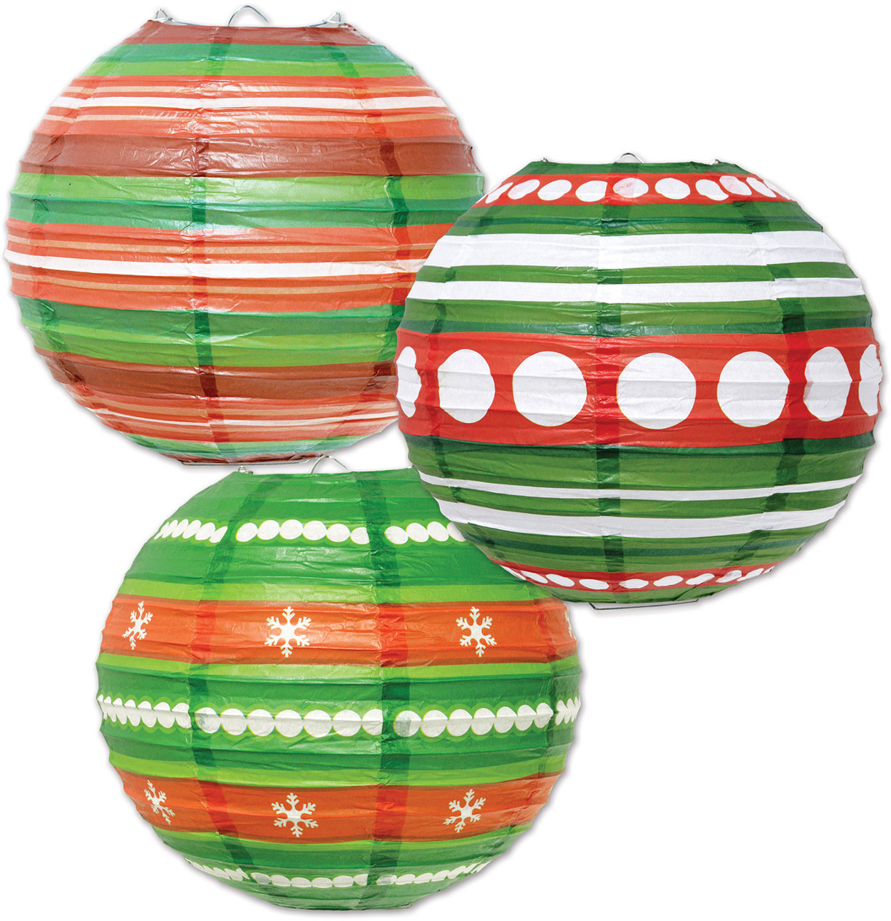 "3 Count 9.5"" Hanging Ornament Paper Lanterns Halloween Decorations"