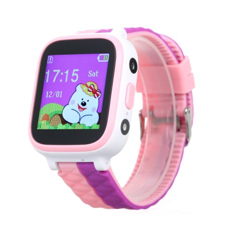 Children Smartwatch with SIM Card Slot 1 44 inch Water-resistant Touching  Screen Anti-lost Wristwatch with Locator SOS Call Voice Chat Compatible for