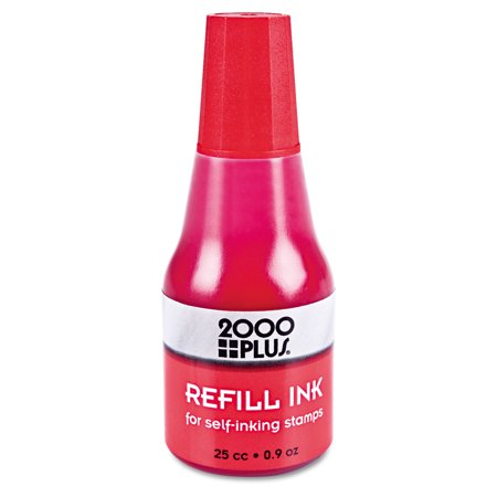 Craft Ink Refill - Self-Inking Refill Ink, Red, 0.9 oz. Bottle