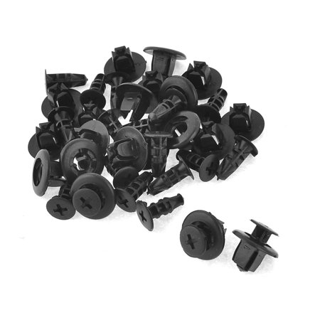 Uxcell 11mm Dia Hole Plastic Push Type Fastener Rivets Fender Clips for (20-pack) Push Plastic Fasteners