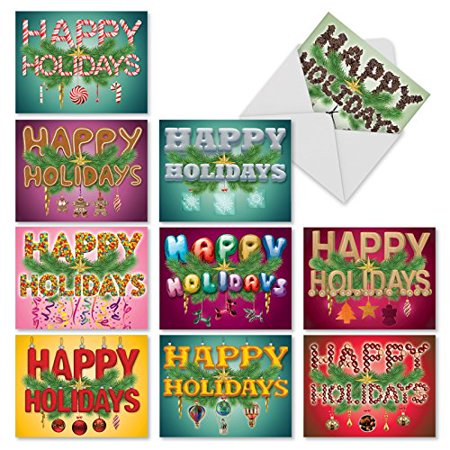 'M3267 SEASONAL SENTIMENTS' 10 Assorted All Occasions Cards Featuring