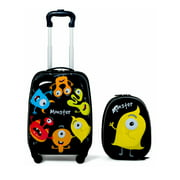Gymax 2PC Kids Luggage Set Backpack & Rolling Suitcase for School Travel ABS