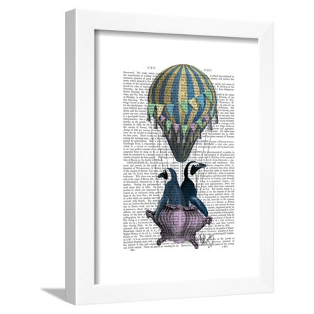Flying Penguins Framed Print Wall Art By Fab Funky