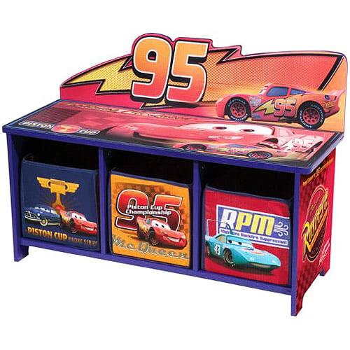 Delta Enterprise Cars 3 Bin Storage Toy Bench - Walmart.com