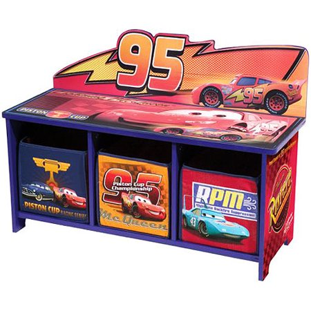 Delta Enterprise Cars 3 Bin Storage Toy Bench