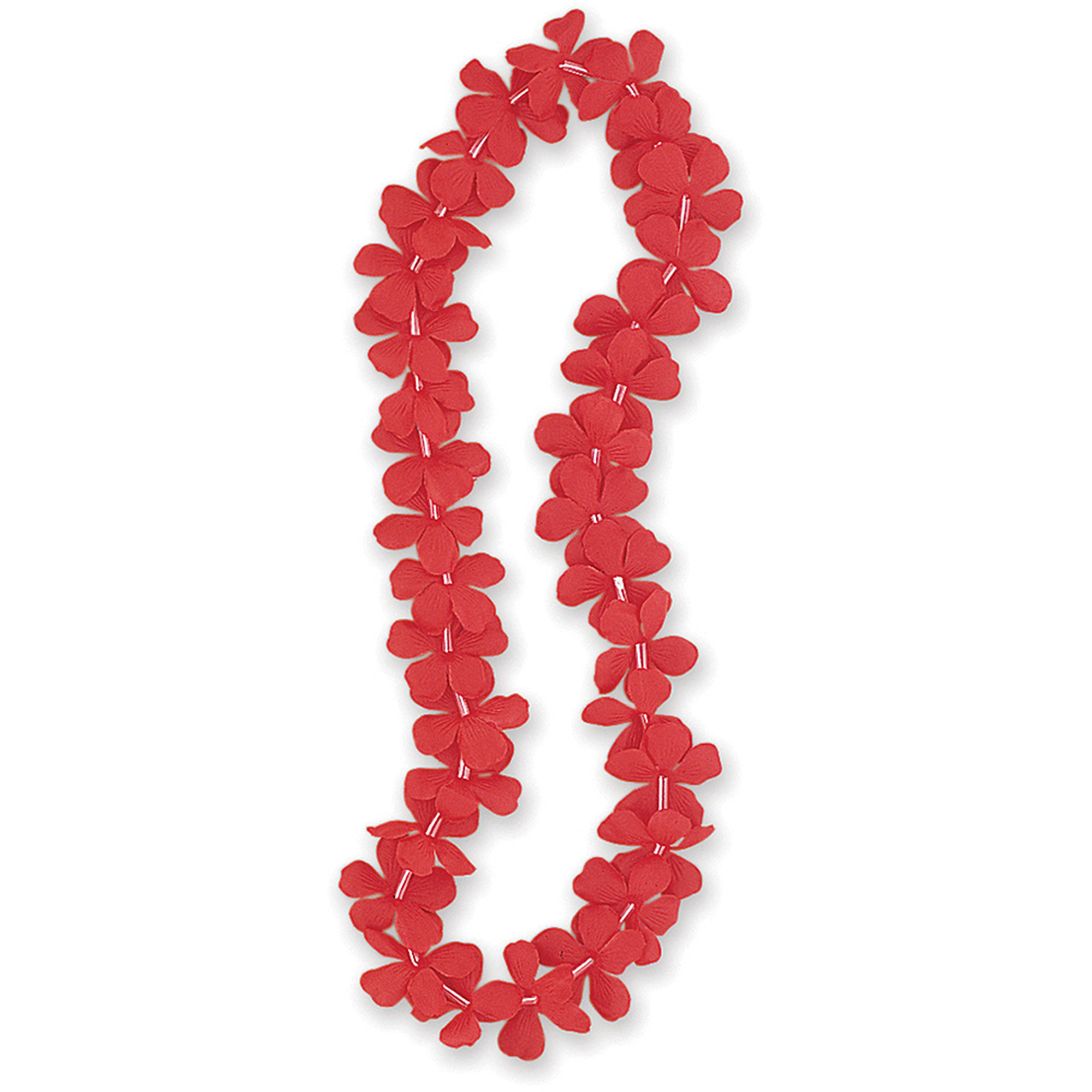 Luau Party Flower Lei 40 In Red 1ct Walmart