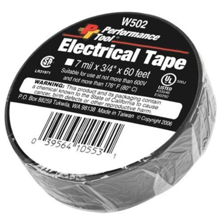 Performance Tools W502 PVC Electrical Tape - 3/4in. x