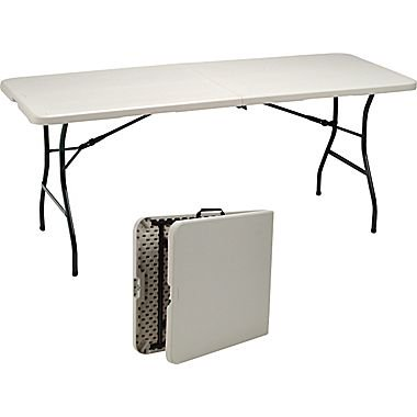 Staples 6 39 fold in half folding table for Folding table 6 x 4
