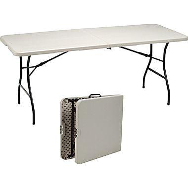 Staples 6 Fold In Half Folding Table Walmartcom