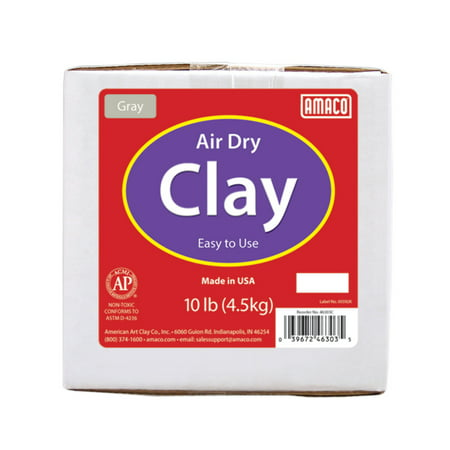 - Amaco Air Dry Modeling Clay, 10 Lbs., Gray