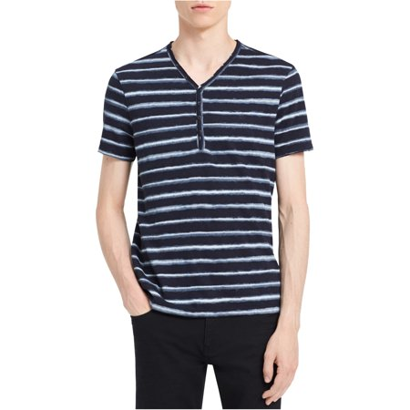 Calvin Klein Mens Striped Henley Shirt