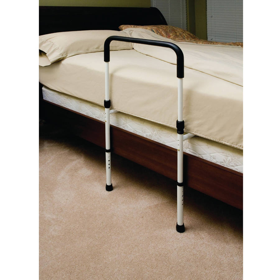 Deluxe Hand Bed Rail with Floor Support and Pouch