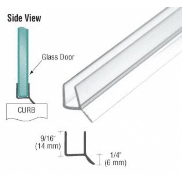 crl frameless shower door seal for 3/8-inch glass, 98-inches long (can be cut down)