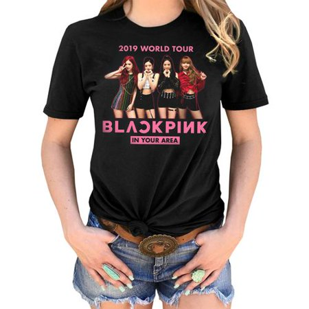Fancyleo BLACKPINK 2019 World Tour ASIA Women's Summer Personality Fashion Print Short Sleeve T-Shirt - (Best Summer T Shirts 2019)